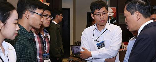 students at the 2017 STEMCON exhibition session